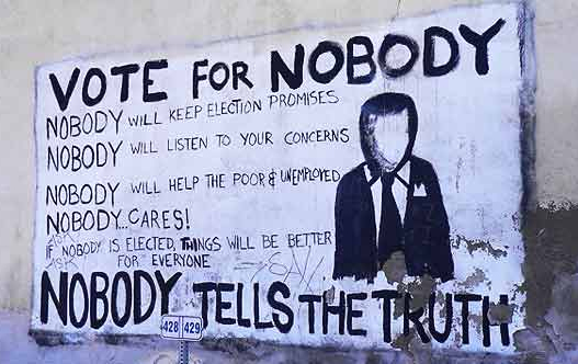 Vote For Nobody Graffiti