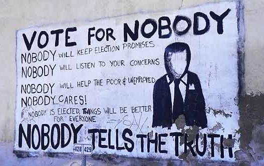 Vote For Nobody Graffiti