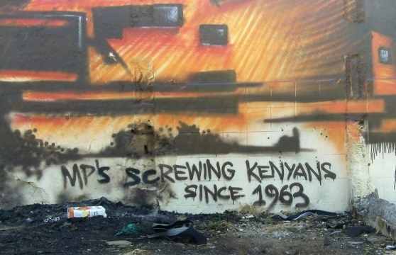 political graffiti Kenya