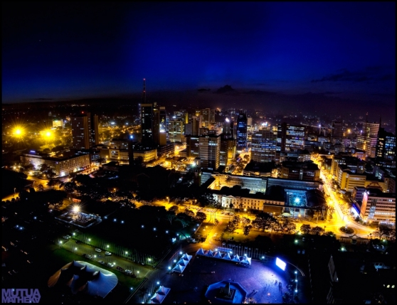 Nairobi at Night Mutua Matheka